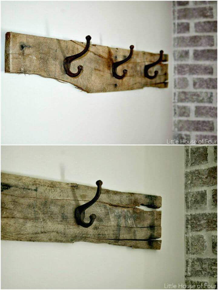 How to Build a Rustic Pallet Coat Rack Tutorial