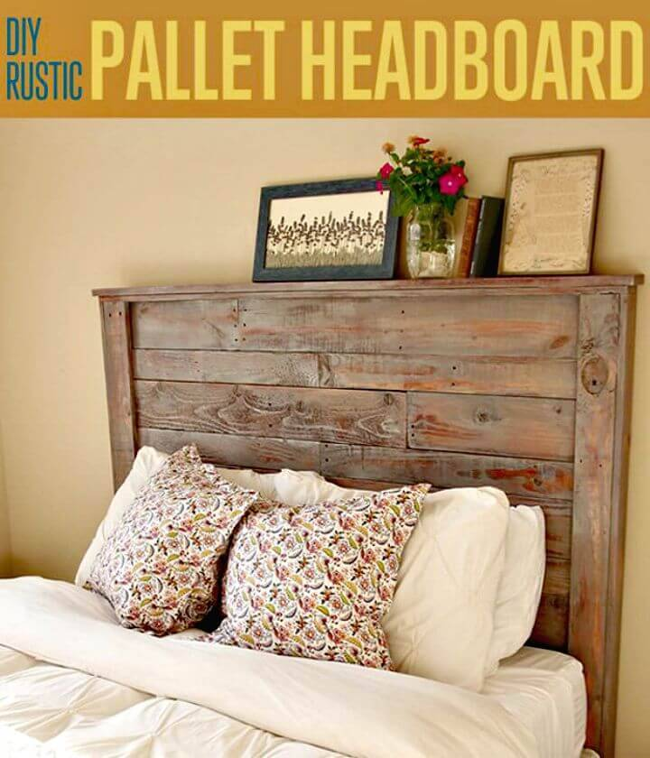 Easy How to DIY Rustic Pallet Headboard