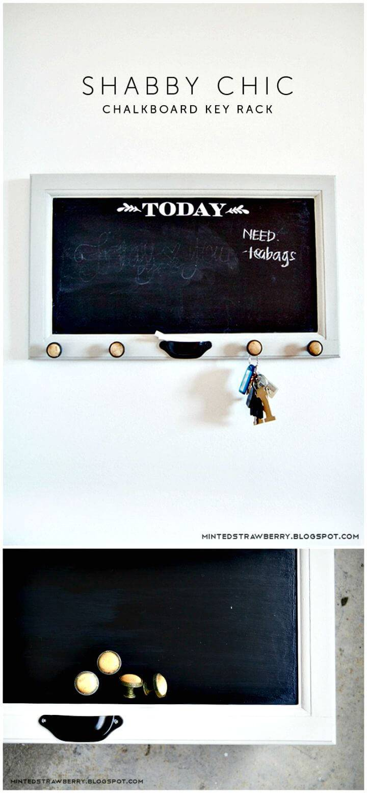 Easy How To Make A Shabby Chic Chalkboard Key Rack Tutorial
