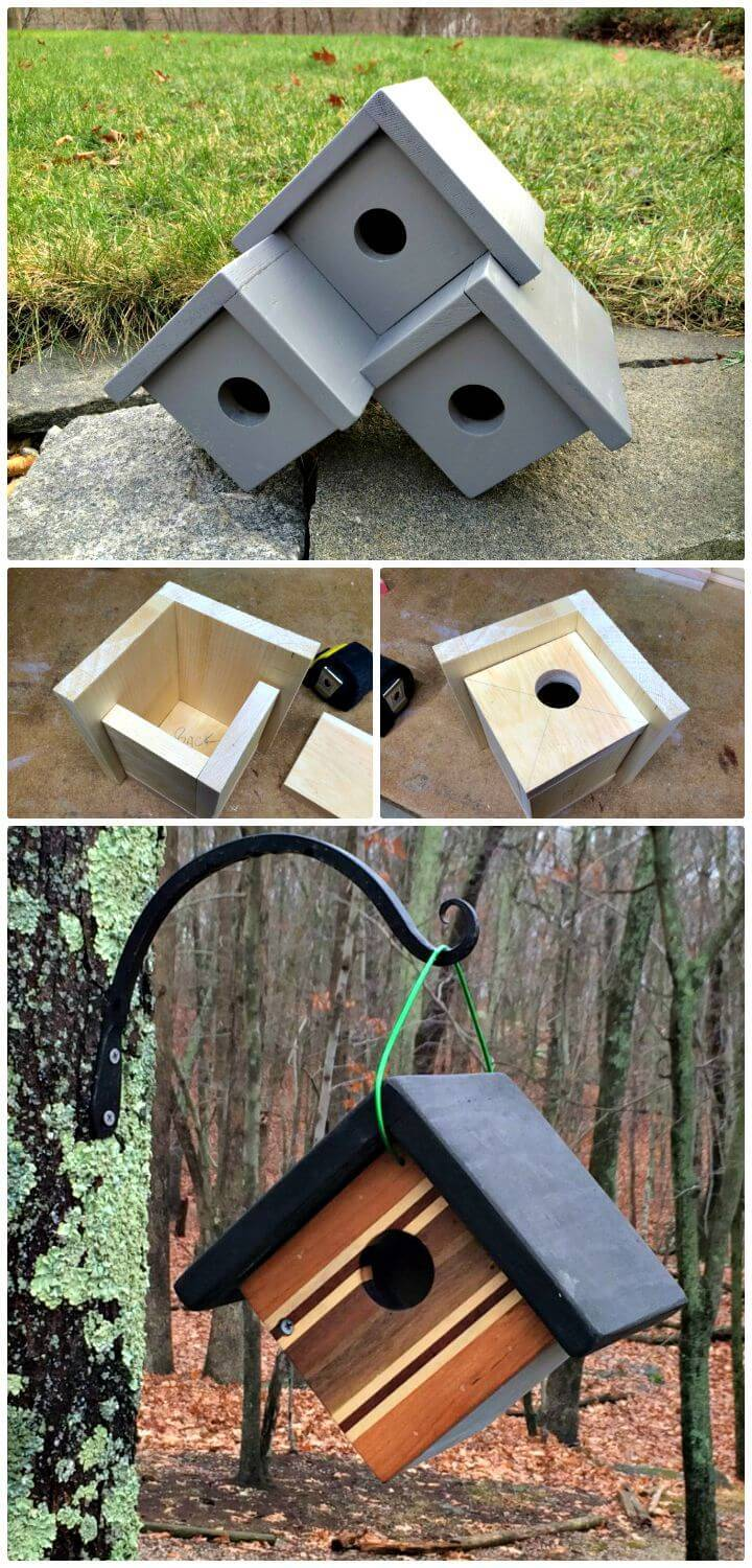 Easy How To Build Three Birdhouse Plans