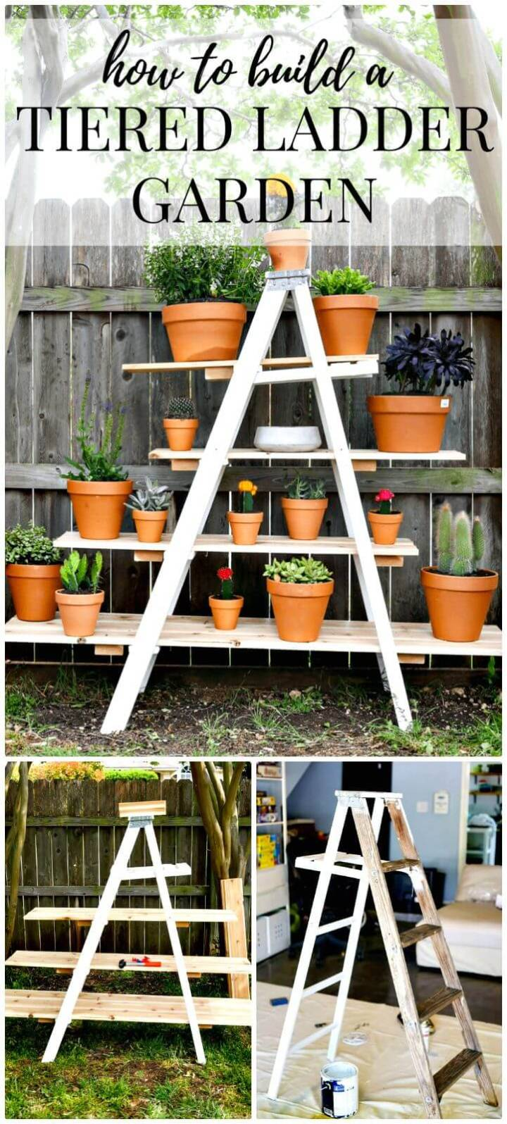 Easy DIY Tiered Ladder Garden