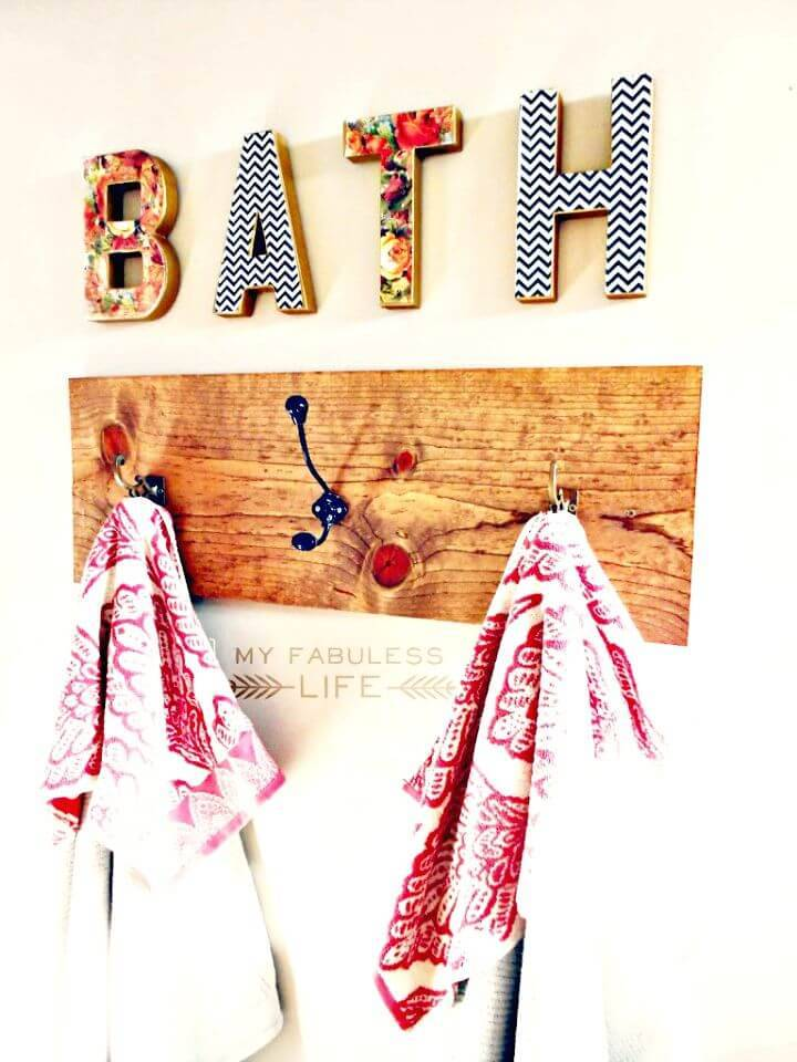 DIY Towel Rack - Organize Your Bathroom Storage
