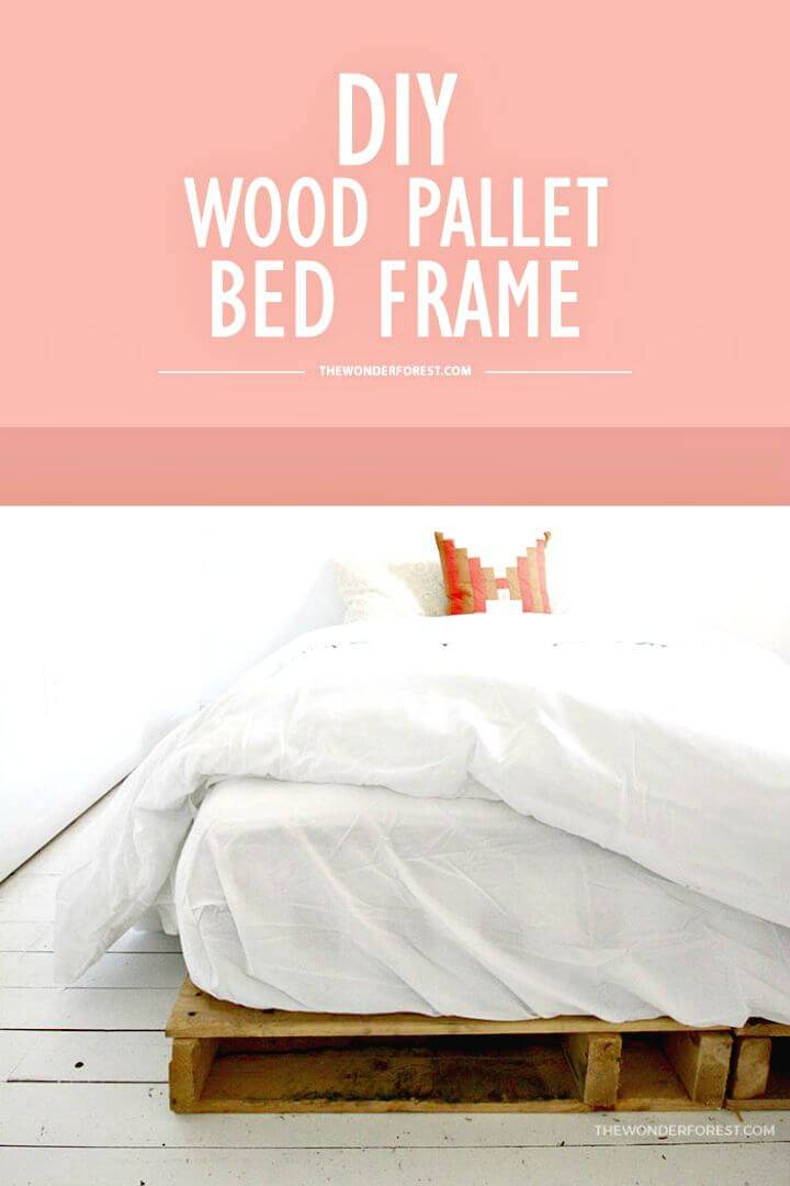 How to Build Your Own Wood Pallet Bed Frame - DIY