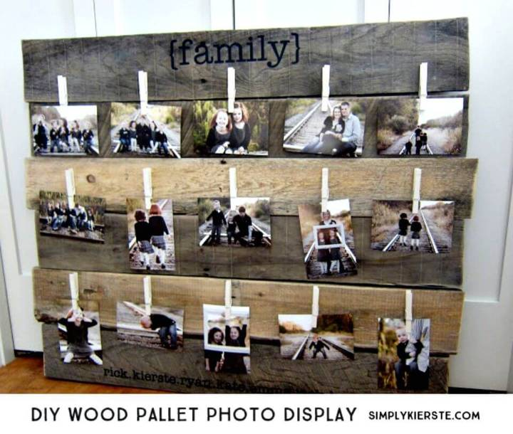 Build Your Own Wood Pallet Photo Display - DIY