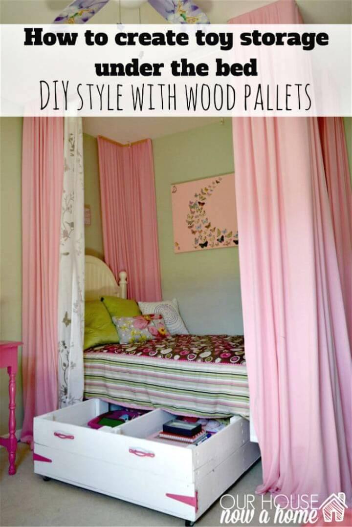 Easy DIY Wood Pallet Under Bed Toy Storage Tutorial