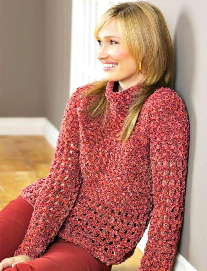 Easy Free Crochet Bohemian Pullover Pattern