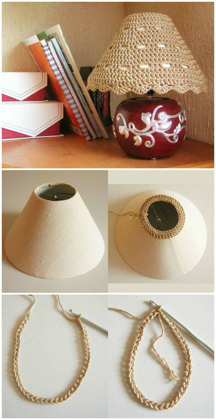 Easy Free Crochet Lampshade Cozy Pattern