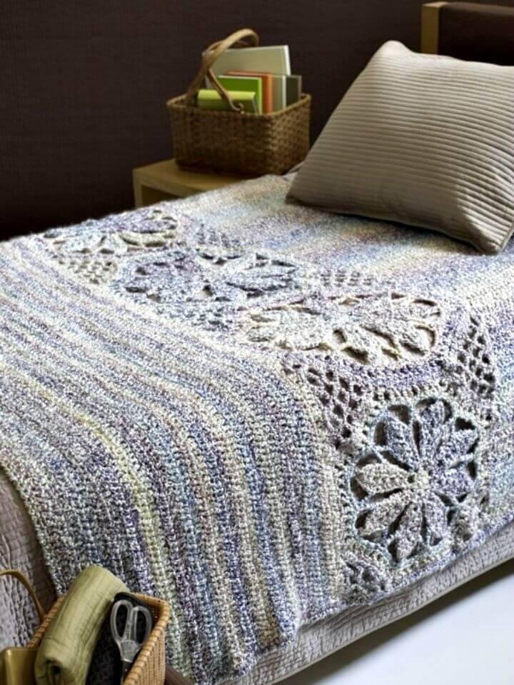 Easy Free Crochet Magnolia Afghan Pattern