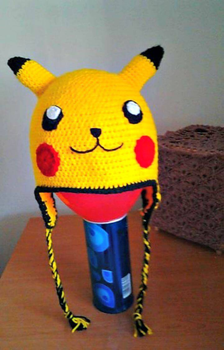 How To Free Crochet Picachu Hat Pattern