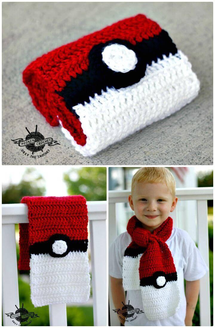 Easy Free Crochet Pokemon Scarf Pattern
