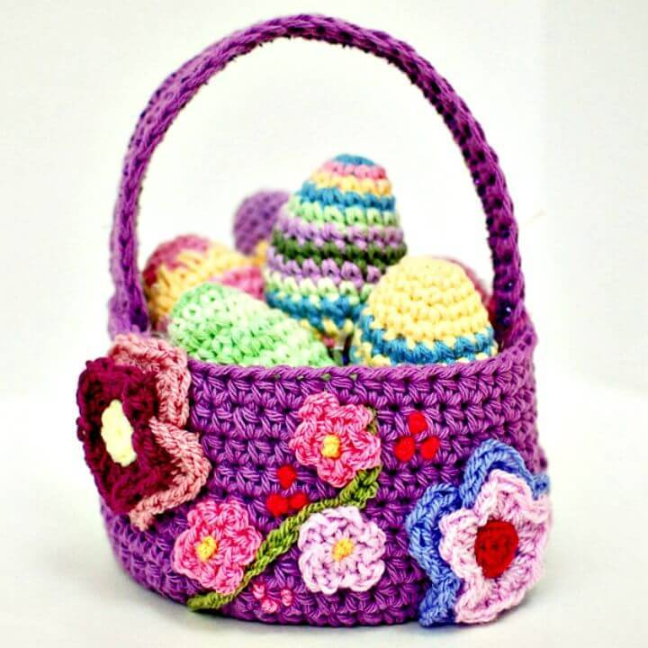 Easy Free Crochet Spring Easter Basket Pattern