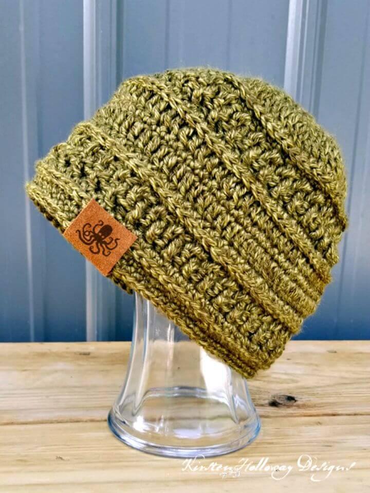 Easy Free Crochet Wanderlust Beanie Pattern