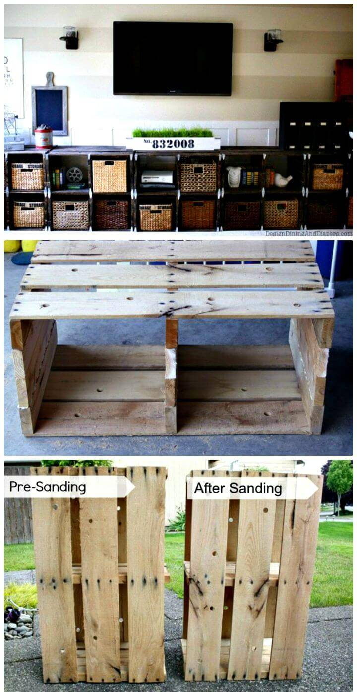 Easy How To Build A Media Center Out Of Pallets Tutorial