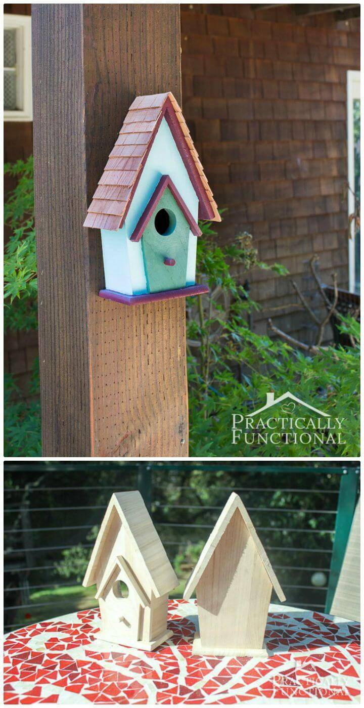 Easy To Build and Paint a Birdhouse Tutorial