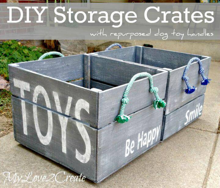 How To Build Storage Crates From Pallets - DIY