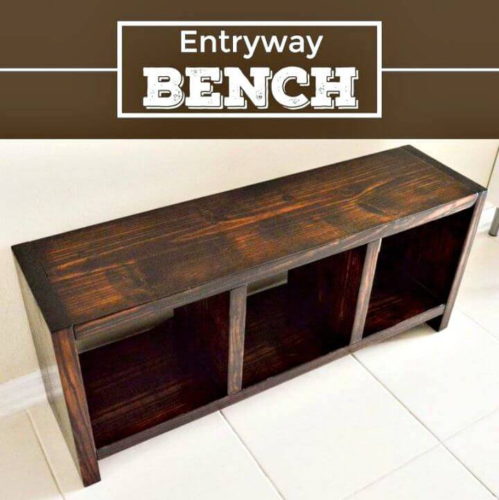 Build Your Own Entryway Bench Tutorial