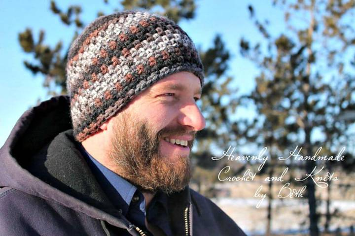 Easy How To Free Crochet Dream Weaver Beanie For Men Pattern