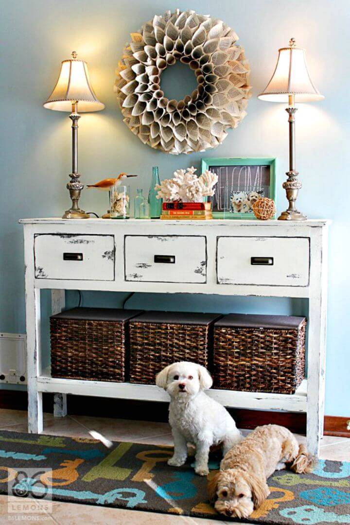 How to Build Basket Lid Entryway Tutorial