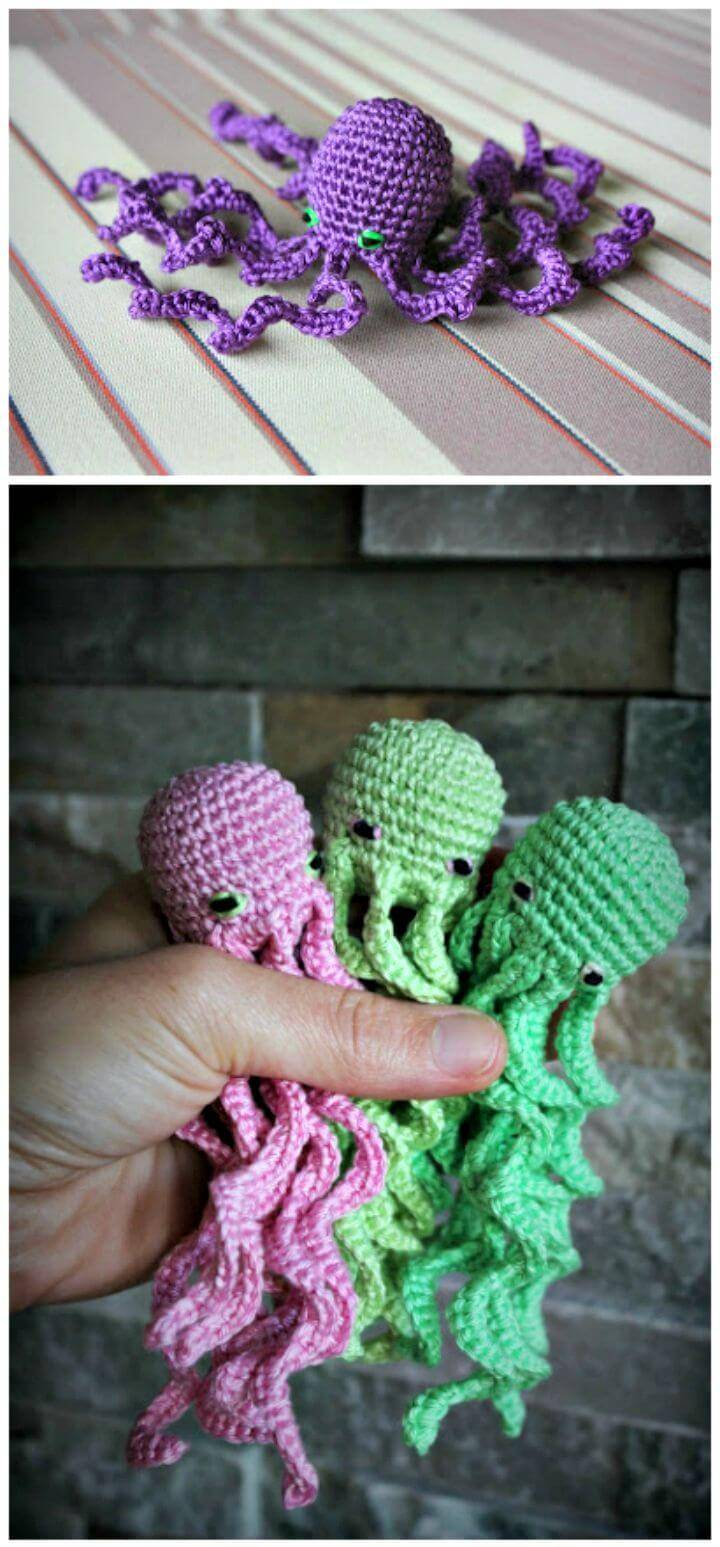 How to Free Crochet Amigurumi Seamless Octupus Pattern