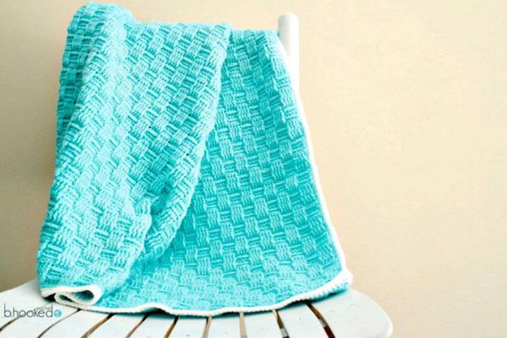 How to Free Crochet Basket Weave Baby Blanket For Spring Pattern