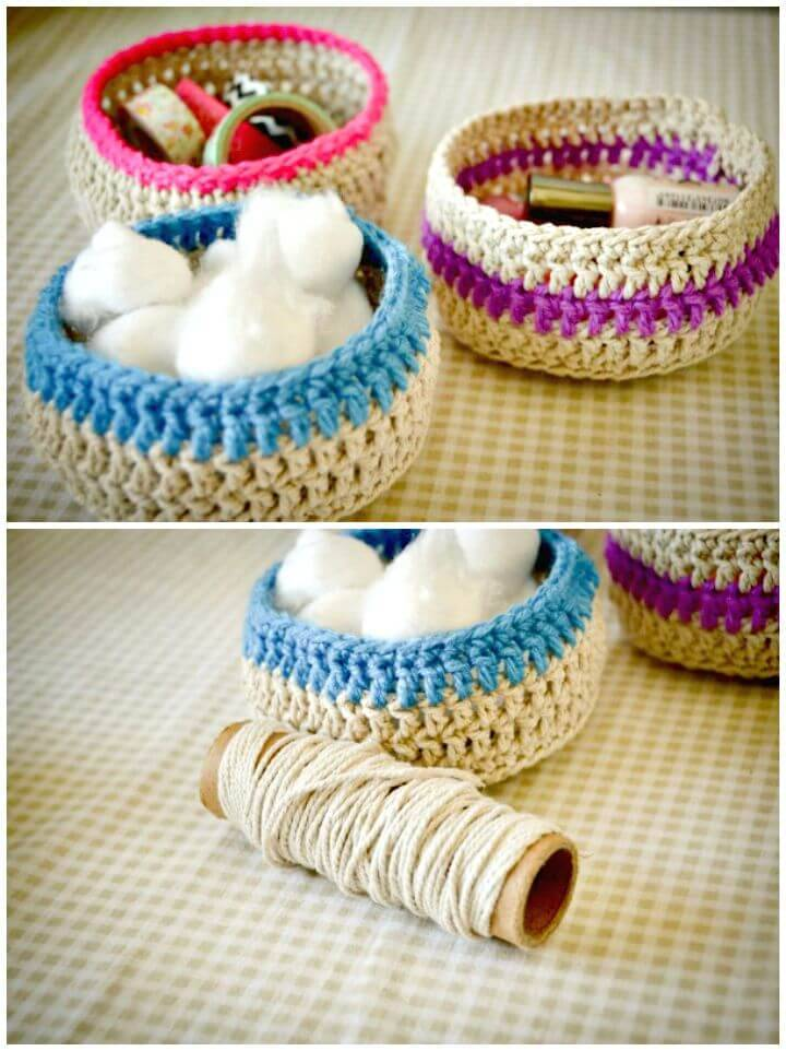 Easy Free Crochet Baskets Gift Pattern