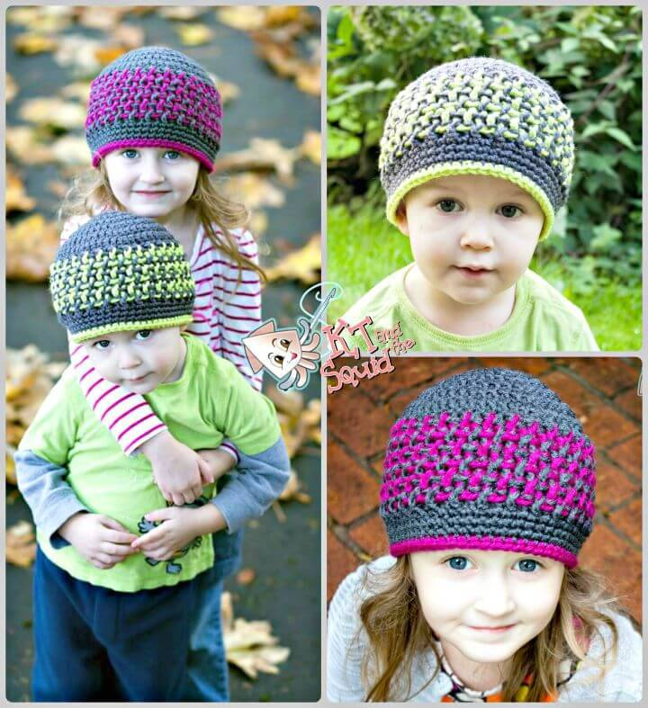 Free Crochet Bright Stripes Beanie Pattern