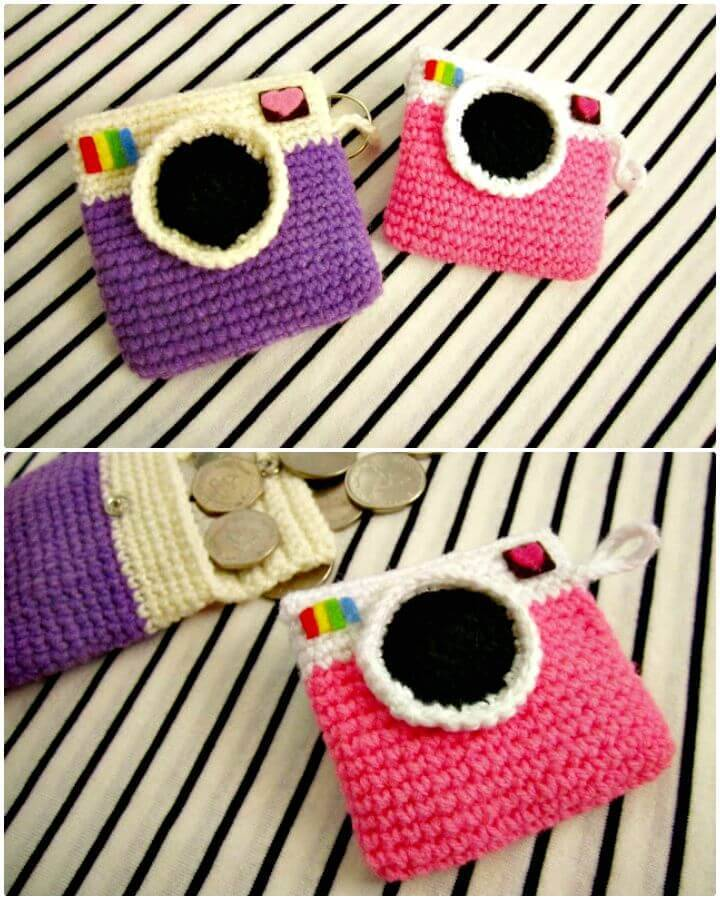 Easy Crochet Camera Coin Purse - Free Pattern