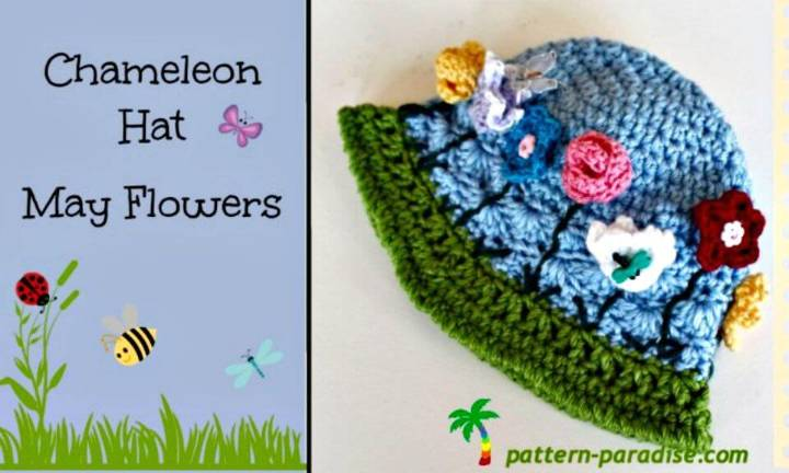 How to Free Crochet Chameleon Hat Pattern