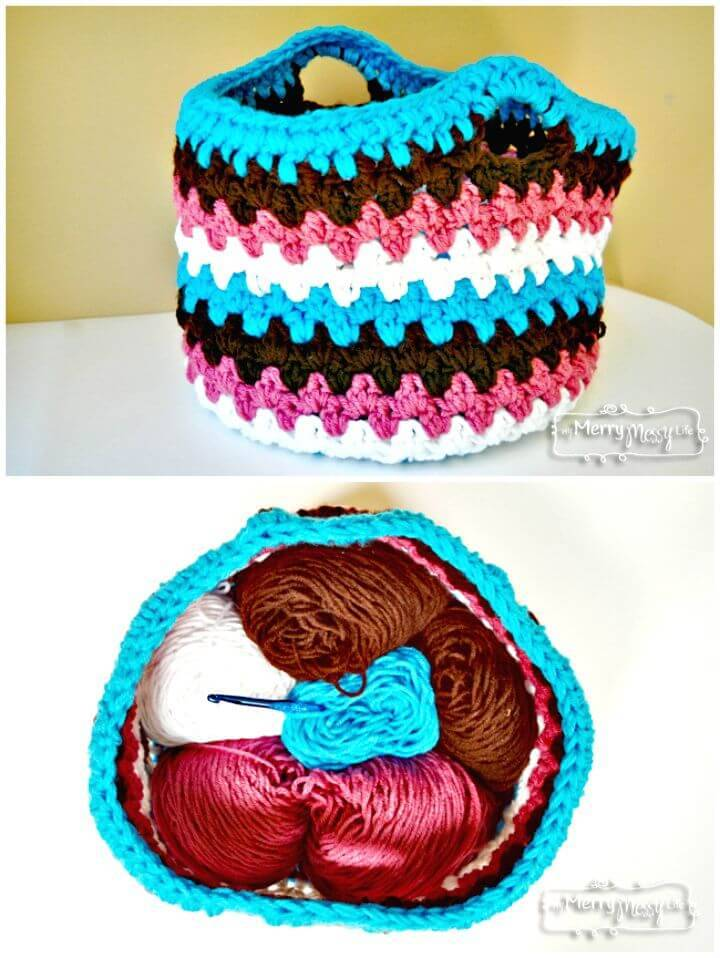 Easy Free Crochet Chunky Basket Pattern