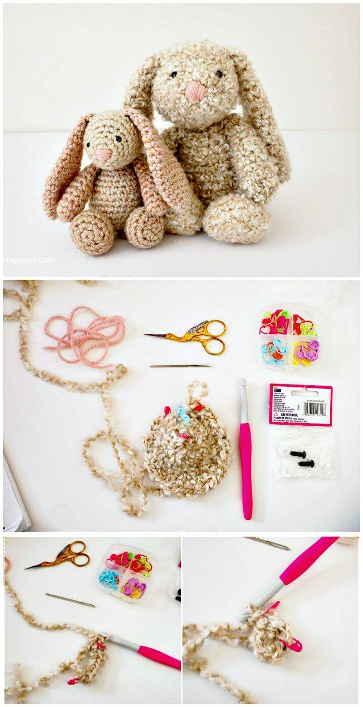 Easy Free Crochet Classic Stuffed Bunny For Spring Pattern