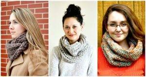 Crochet Cowl Patterns - DIY Crafts - Free Crochet Patterns - Crochet Infinity Scarf