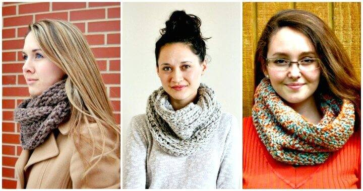 Crochet Cowl Patterns - DIY Crafts - Free Crochet Patterns - Crochet Infinity Scarf
