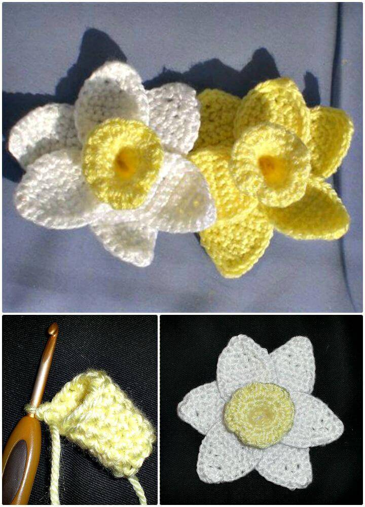 Easy Free Crochet Daffodils Flowers For Spring Pattern