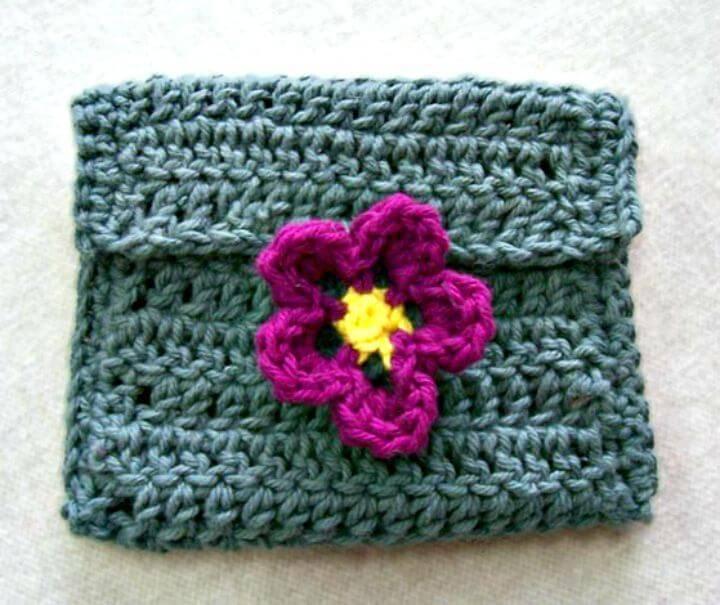 Free Crochet Flower Coin Purse Pattern