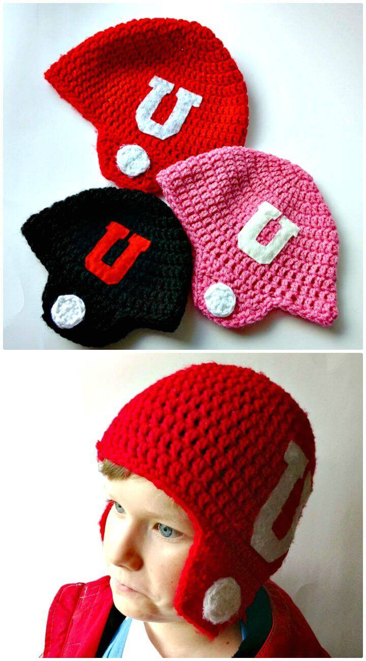 8 Free Crochet Football Hat Patterns Diy Crafts