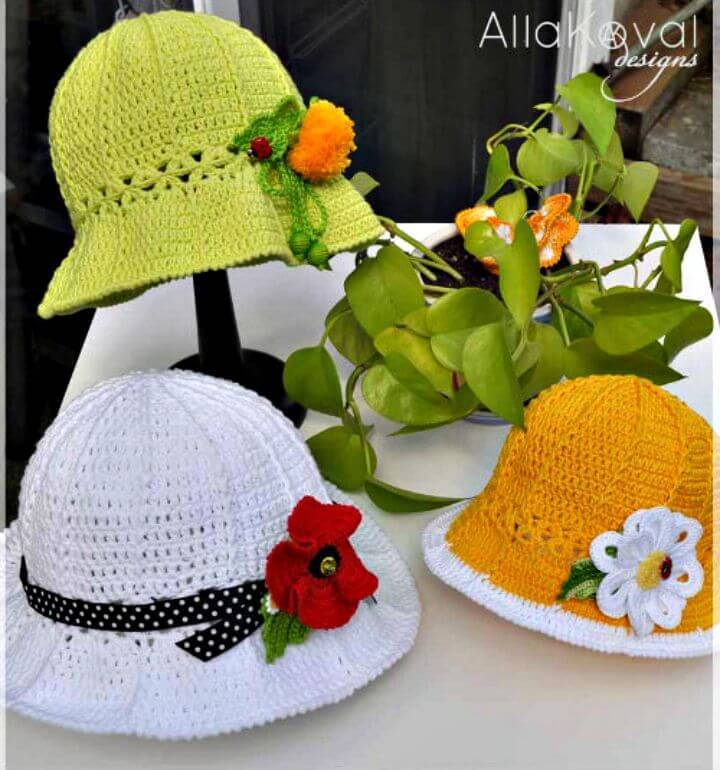 Easy Free Crochet Garden Party Hat For Spring Pattern