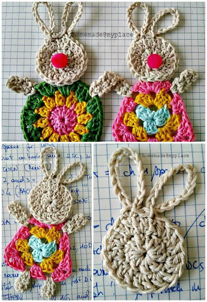 Easy Free Crochet Granny Bunny For Spring Pattern