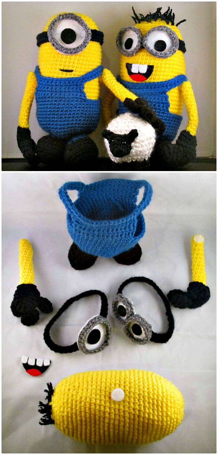 How To Free Crochet Interchangeable Minion Figures Pattern