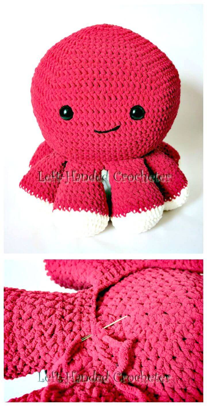 Easy How to Free Crochet Octopus - Pattern