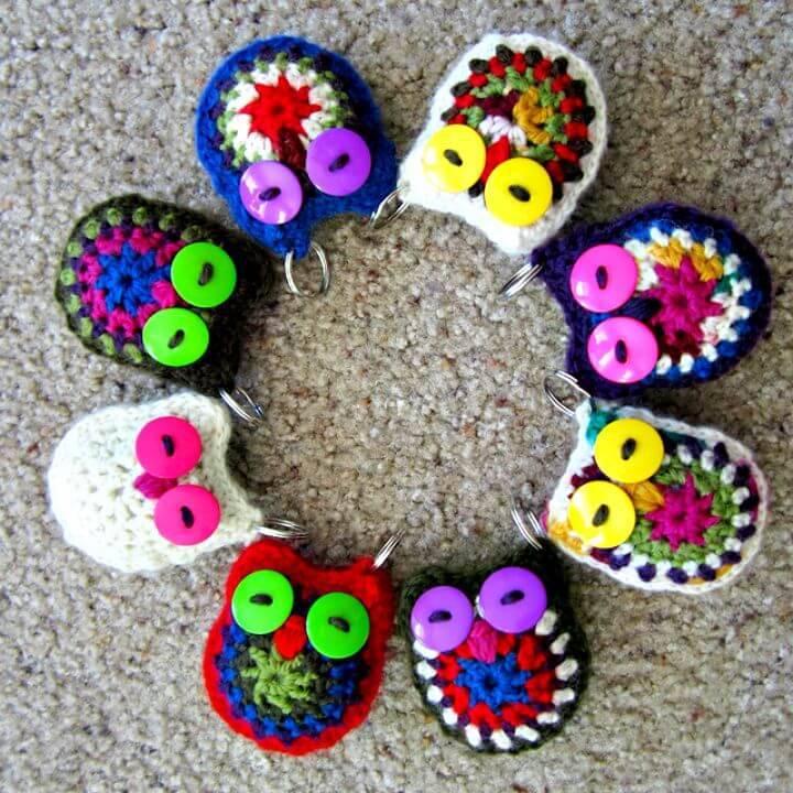 Easy Free Crochet Owl Key Chain Pattern