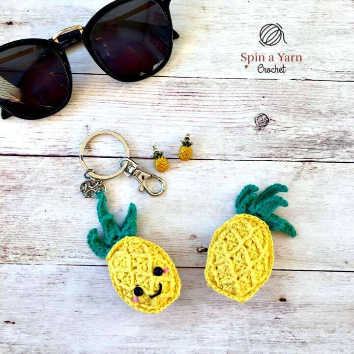 How To Free Crochet Pineapple Keychain Pattern