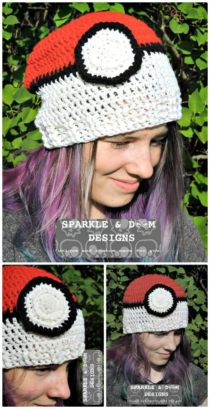 Easy Free Crochet Pokemon Ball Anita Toque Mod Pattern