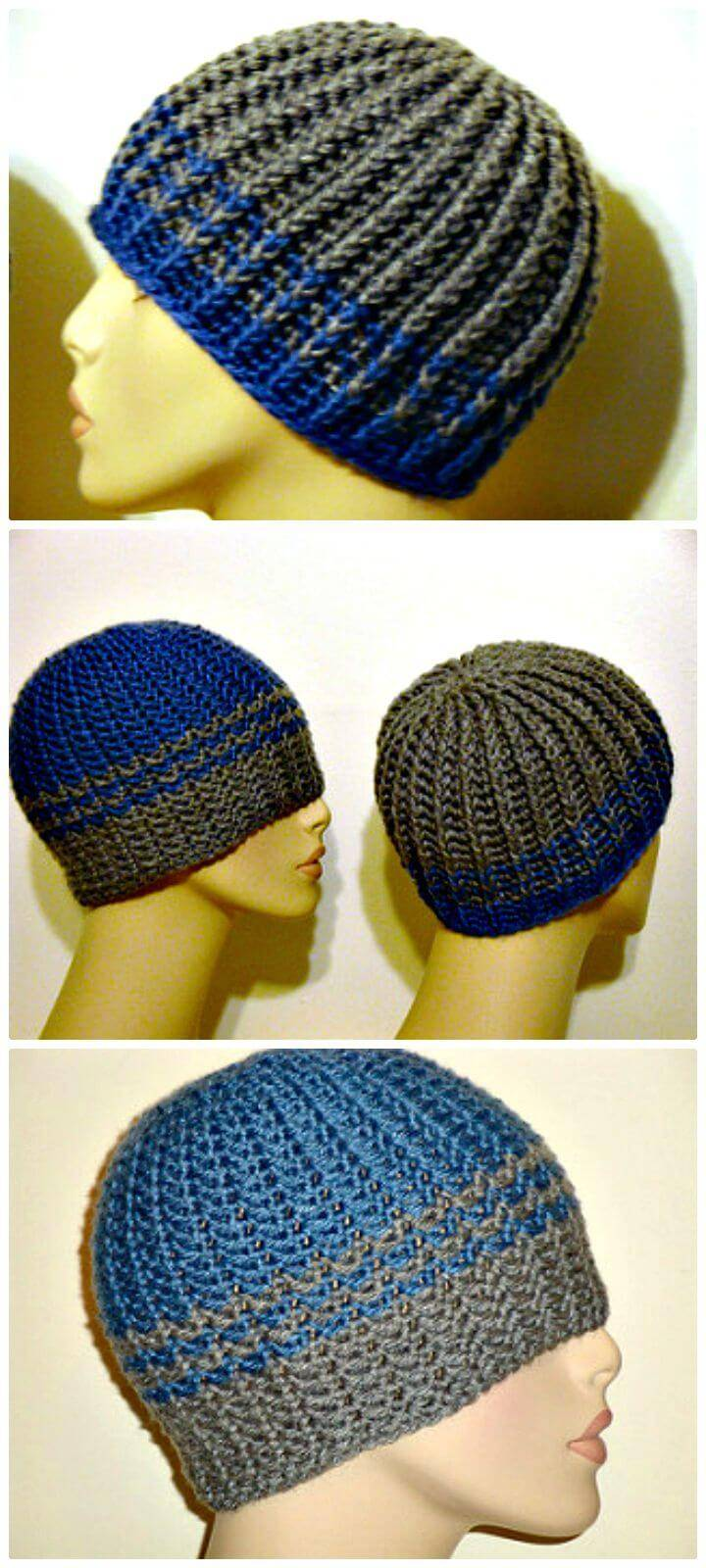 Easy Free Crochet Reversible Strands For Men Pattern