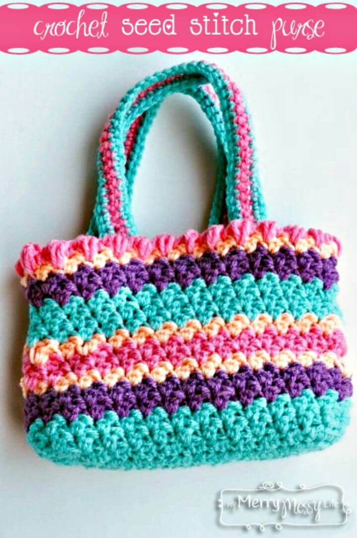 Easy Free Crochet Seed Stitch Purse Pattern