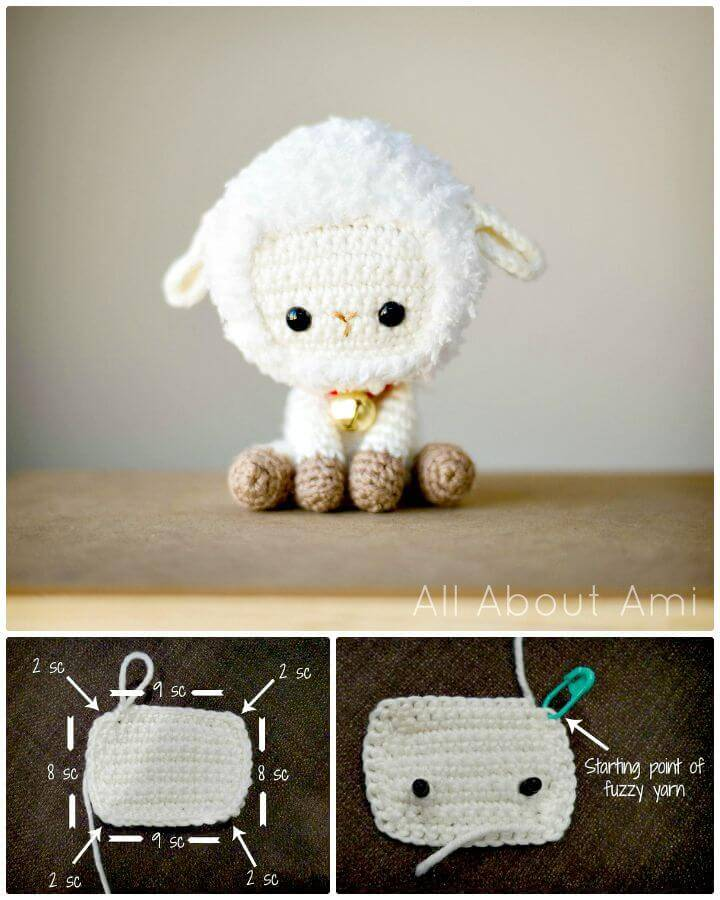 How to Free Crochet Sheep For Spring Pattern