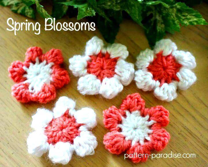 Easy Free Crochet Spring Blossoms Pattern