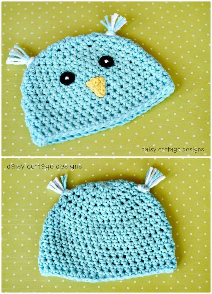 How to Free Crochet Spring Chick Hat Pattern