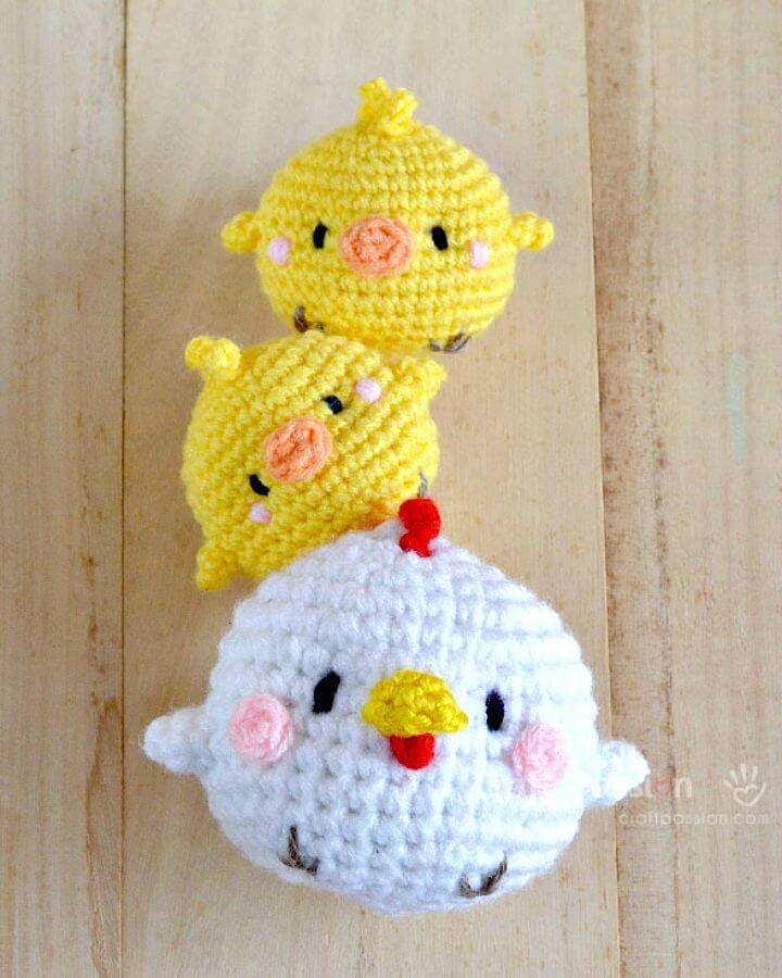 Easy Free Crochet Spring Hen & Chicks Amigurumi Pattern