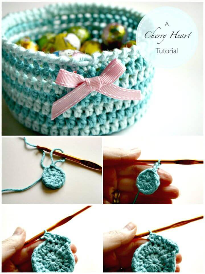 Easy Free Crochet Basket Step By Step Pattern
