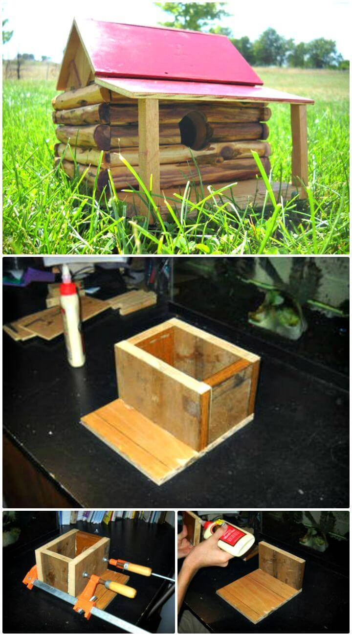 How To Build A Log Cabin Bird House Tutorial